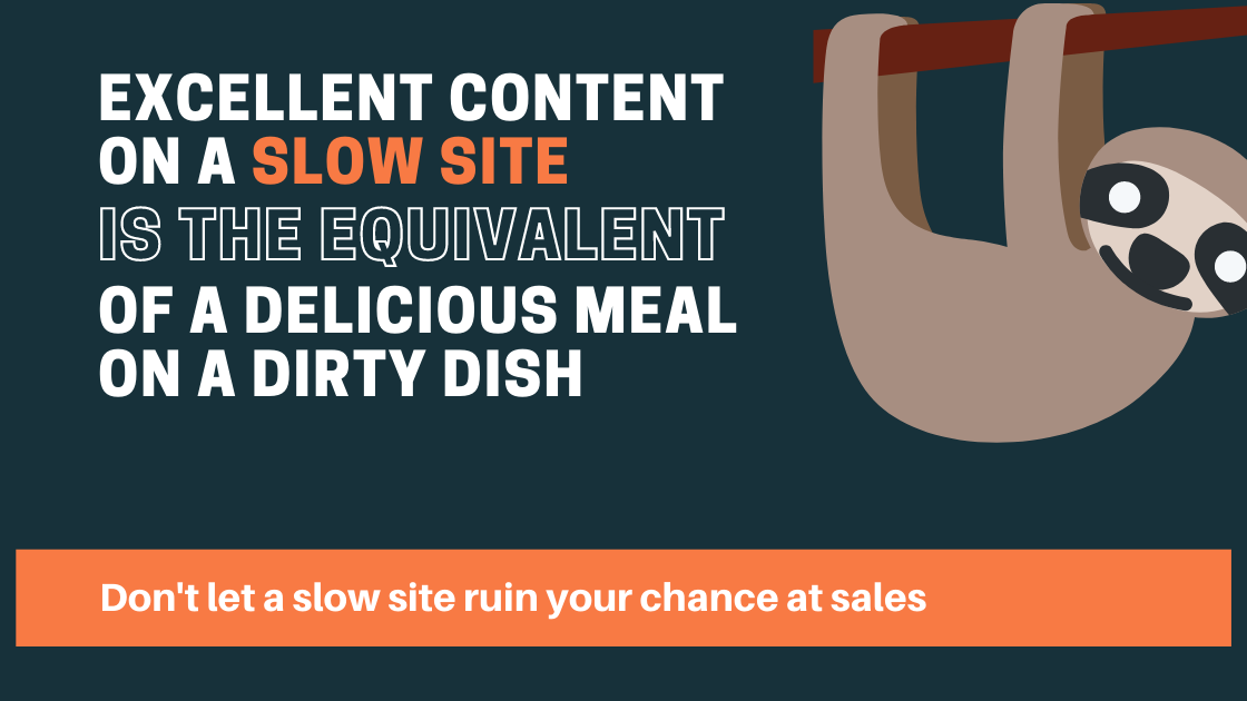 Excellent Content on a Slow Site - Agency Jet
