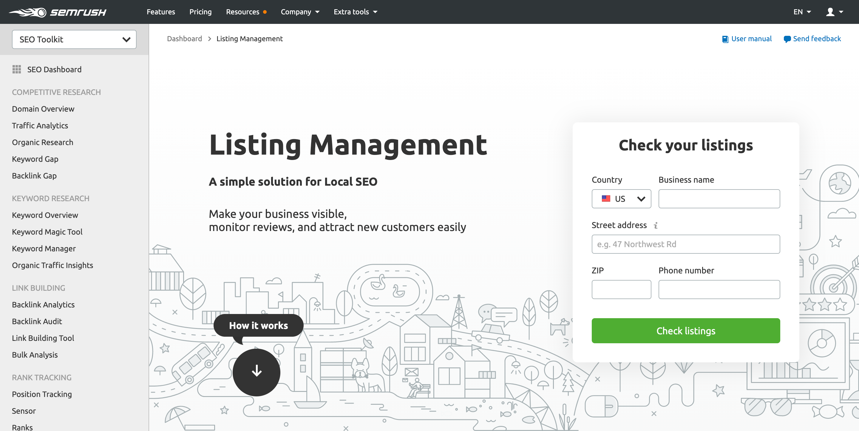 Listing-Management-SEMrush - Agency Jet