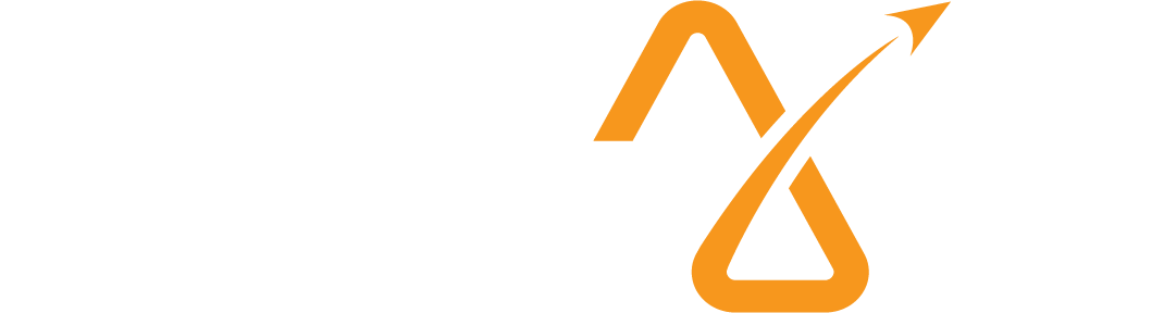 AJ Logo - White and Orange