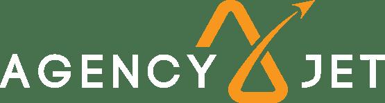 AJ Logo - White and Orange