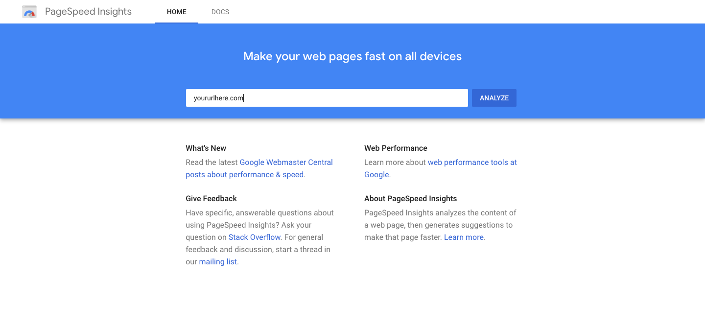PageSpeed-Insights