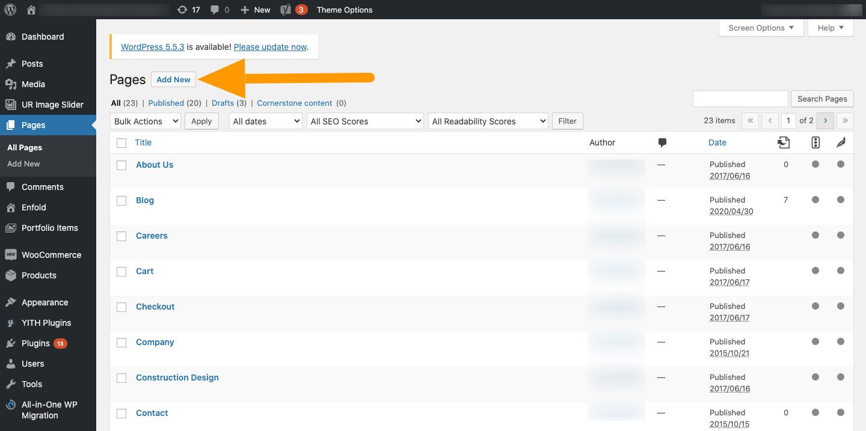 WordPress Add New - Agency Jet