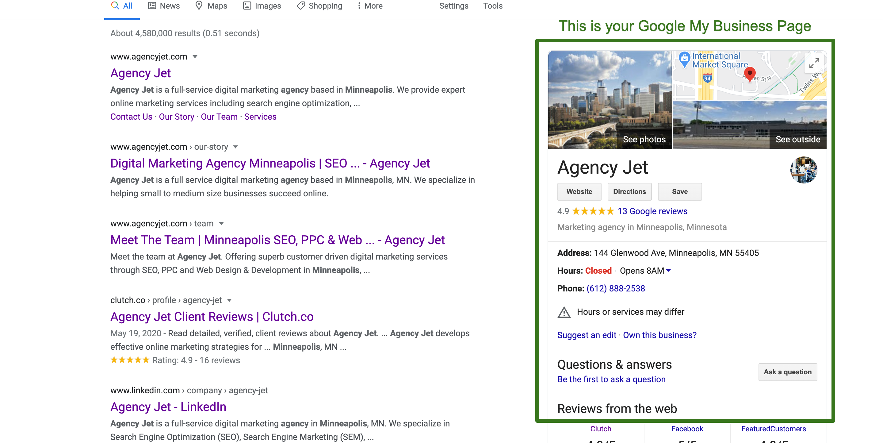 agency_jet_minneapolis_Google_Search