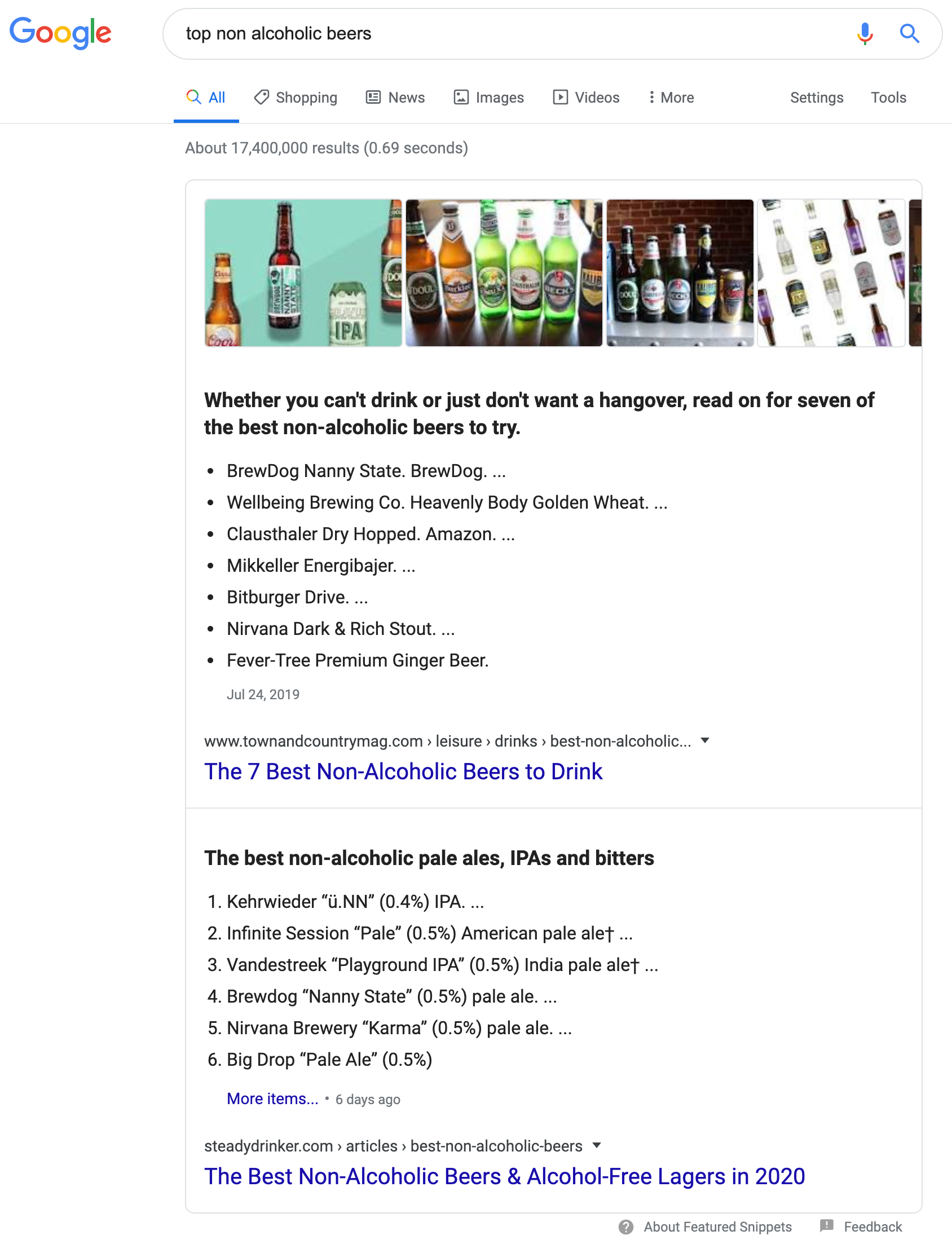 top non alcoholic beers - Google Search
