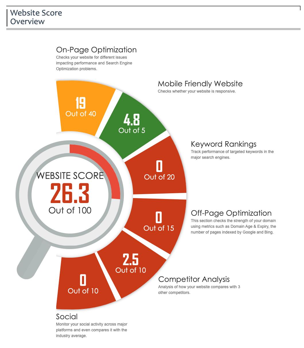 website assessment score - Agency Jet