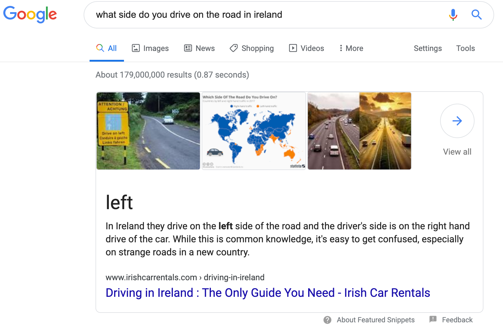 what side do you drive on the road in ireland - Google Search